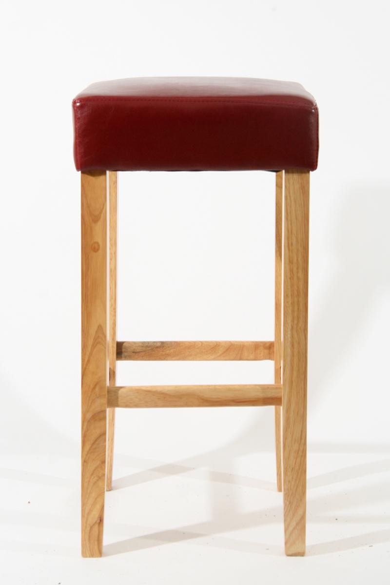 Barhocker Holz Gepolstert Echtleder Kunstleder