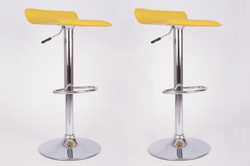 2x Barhocker gelb Bar Stuhl Kuche Messe Hocker NEU Tüv