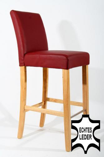 barhocker echt leder gepolstert echtes leder barhocker holz h henverstellbar ne. Black Bedroom Furniture Sets. Home Design Ideas
