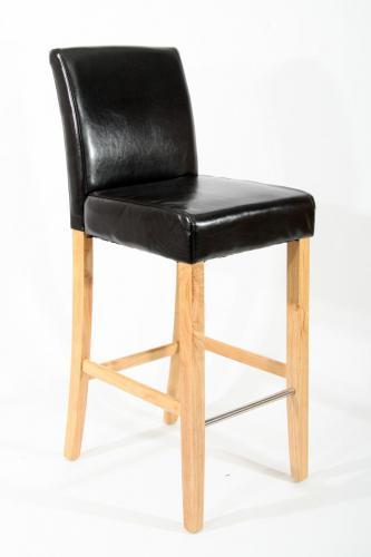 2x holzbarhocker gepolstert echtleder kunstleder barhocker holz natur schwarz ebay. Black Bedroom Furniture Sets. Home Design Ideas