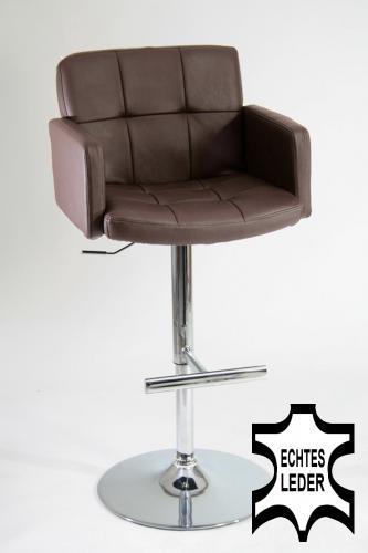barhocker echt leder gepolstert echtes leder barhocker. Black Bedroom Furniture Sets. Home Design Ideas