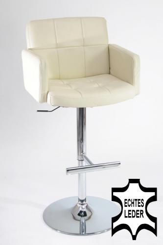barhocker echt leder gepolstert echtes leder barhocker holz h henverstellbar ne ebay. Black Bedroom Furniture Sets. Home Design Ideas