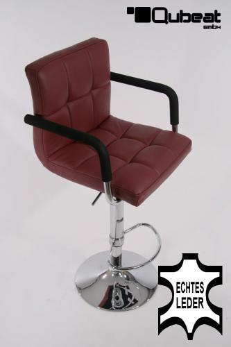 2x design barhocker gepolstert h henverstellbar echt leder kunstleder armlehne ebay. Black Bedroom Furniture Sets. Home Design Ideas