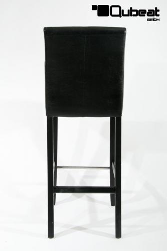 Hochwertige holzbarhocker in schwarz 2x edler for Hochwertige barhocker