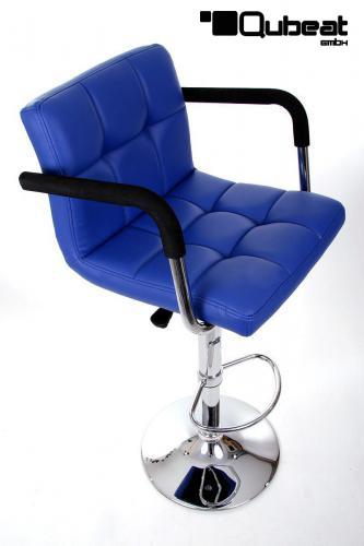 2x design barhocker gepolstert h henverstellbar echt leder. Black Bedroom Furniture Sets. Home Design Ideas