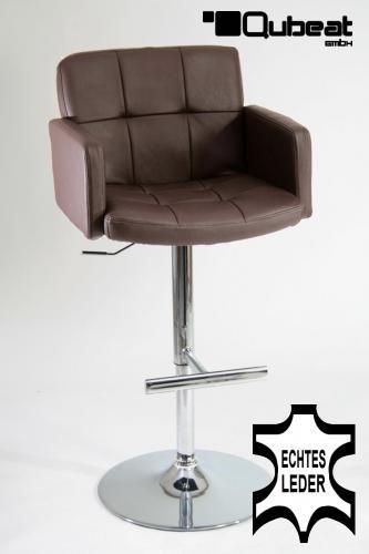 barhocker braun echt leder edler barhocker in echt leder farbe braun sehr bequem. Black Bedroom Furniture Sets. Home Design Ideas
