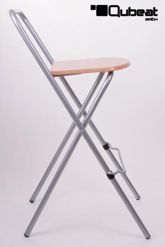 Barhocker Klappbar 2x barhocker klappbar silber holz schlichtes design praktisch und