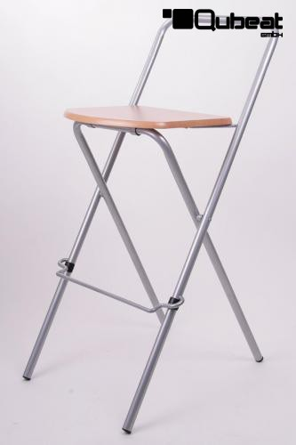 Barhocker Klappbar Holz : 2x barhocker klappbar silber holz schlichtes design ~ Michelbontemps.com Haus und Dekorationen