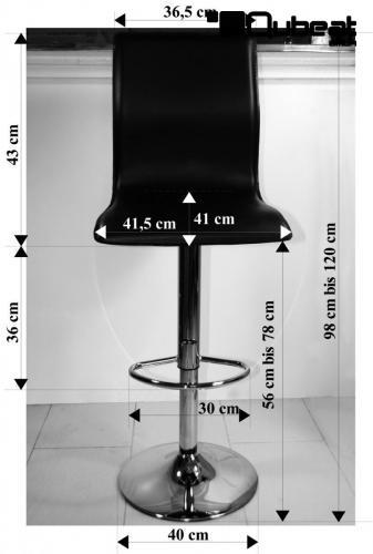 barhocker mit lehne in schwarz in leder optik mit. Black Bedroom Furniture Sets. Home Design Ideas