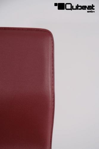 barhocker mit lehne in weinrot in leder optik mit. Black Bedroom Furniture Sets. Home Design Ideas