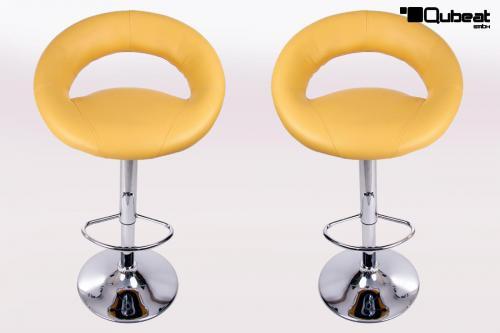 Design barhocker gelb bequemer barstuhl in gelbem for Barhocker gelb