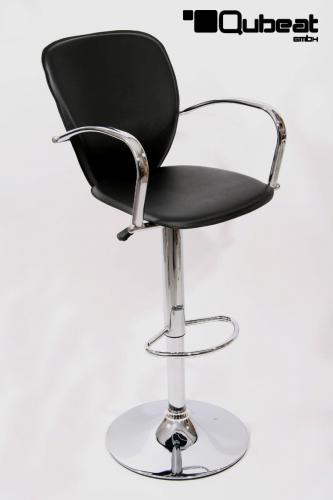 2x design barhocker schwarz mit armlehne h henverstellbar. Black Bedroom Furniture Sets. Home Design Ideas