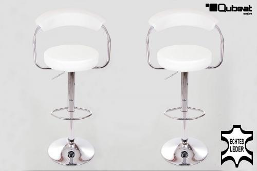 barhocker wei echt leder barstuhl in wei sehr angenehem im komfort mit gepolsteter. Black Bedroom Furniture Sets. Home Design Ideas