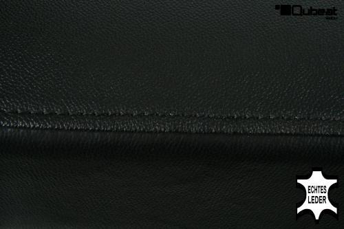 hochwertige holzbarhocker in schwarzem echtleder 2x edler barhocker schwarz holz gummibaum. Black Bedroom Furniture Sets. Home Design Ideas
