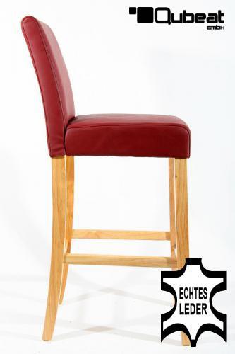 holzbarhocker in weinrot natur 2x edler holzbarhocker. Black Bedroom Furniture Sets. Home Design Ideas
