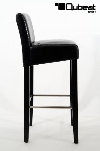 hochwertige holzbarhocker in schwarz 2x holzbarhocker schwarz holzgestell b ware schwarz. Black Bedroom Furniture Sets. Home Design Ideas