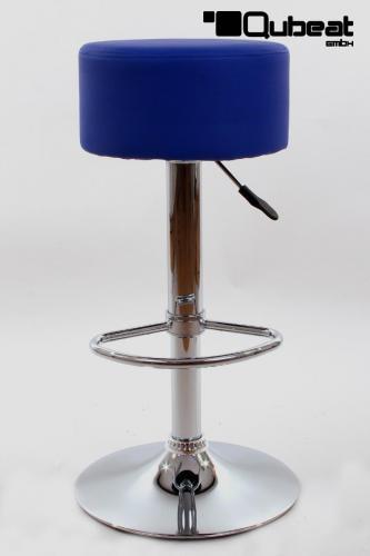 Barhocker Blau barhocker blau höhenverstellbar runder sitz klassisch gut gepolstert
