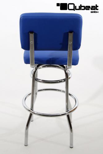 Barhocker Blau 1x barhocker blau weiss gepolstert rückenlehne chrome barhocker
