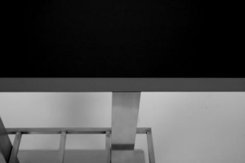 bistro tisch schwarz mdf platte eckig xxl 70x 150 cm 50. Black Bedroom Furniture Sets. Home Design Ideas