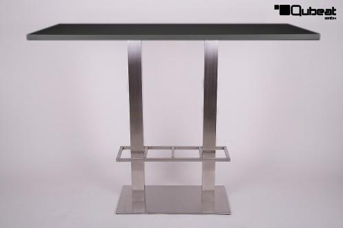 Bistrotisch Schwarz Eckig.Bistro Tisch Schwarz Mdf Platte Eckig Xxl 70x 150 Cm 50 Kg