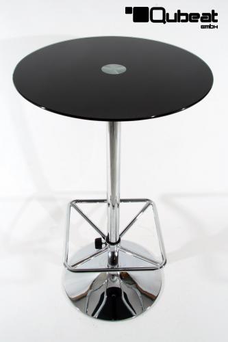 bistrotisch mit roter glasplatte bistro tisch schwarz glasplatte rund fu st tze quadratisch. Black Bedroom Furniture Sets. Home Design Ideas