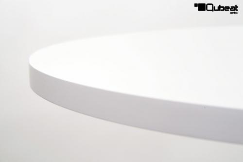 tisch wei runde holzplatte h henverstellbar 20kg bistro tisch. Black Bedroom Furniture Sets. Home Design Ideas