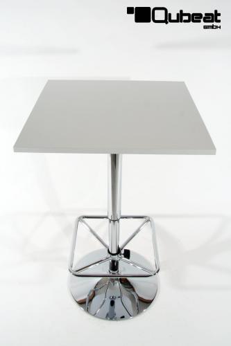 bistro tisch wei quadratische fu st tze quadratische holzplatte. Black Bedroom Furniture Sets. Home Design Ideas