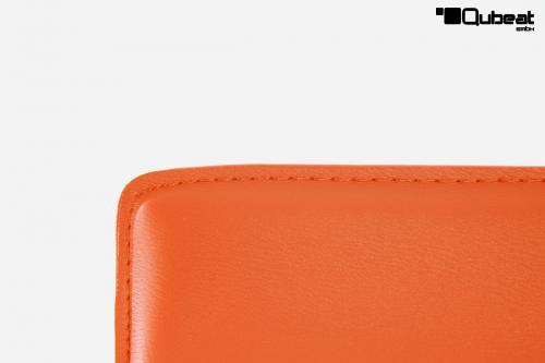Barhocker orange sehr bequem ideal f r die k che und for Barhocker orange