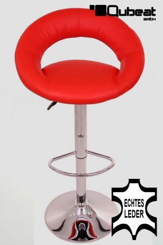 barhocker rot echt leder barstuhl hocker echt leder im. Black Bedroom Furniture Sets. Home Design Ideas