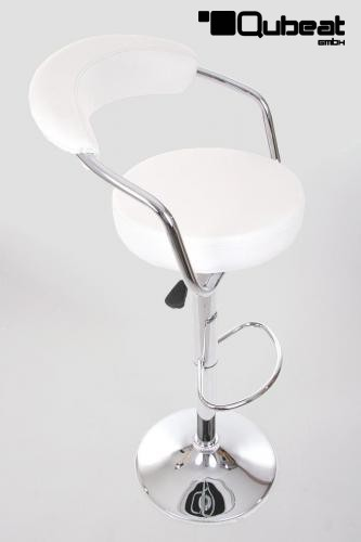 Design barhocker wei eleganter barhocker in wei sehr for Barhocker bequem mit lehne