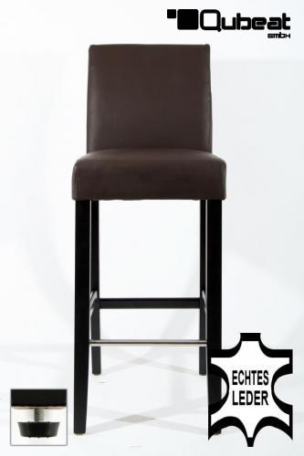 holzbarhocker in braun schwarz b ware edler holzbarhocker braun holzgestell barhocker holz. Black Bedroom Furniture Sets. Home Design Ideas