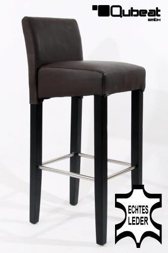 holzbarhocker in braun schwarz edler holzbarhocker braun holzgestell b ware schwarz mit lehne. Black Bedroom Furniture Sets. Home Design Ideas
