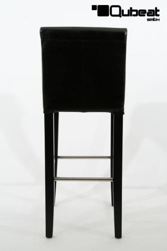 hochwertiger holzbarhocker in schwarz holzbarhocker schwarz holzgestell b ware barhocker holz. Black Bedroom Furniture Sets. Home Design Ideas
