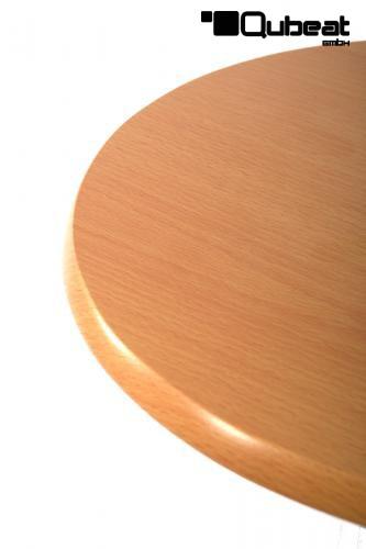 runde holzfarbende tischplatte aus robustem mdf und viele andere artikel online bestellen. Black Bedroom Furniture Sets. Home Design Ideas