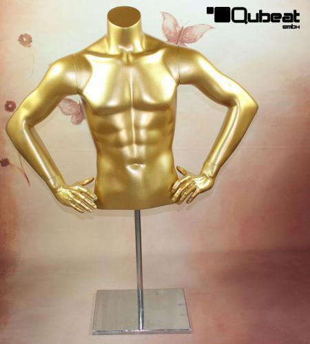 Goldener torso m nnlich m nnlicher torso gold 3269 for Restposten dekoartikel