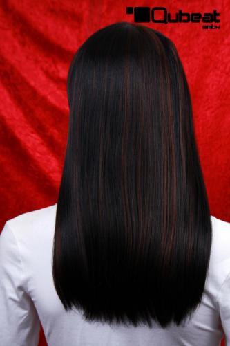 Schwarze Haare Mit Braunen Strähnen Braune Strähnchen Auf