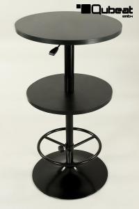 bistrotisch mit zwei ebenen sehr stabil bistro tisch schwarz 2 ebenen h henverstellbar mit. Black Bedroom Furniture Sets. Home Design Ideas