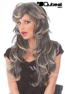 Langhaarper cke in grau bestehend aus hochwertigem for Graue dekoartikel